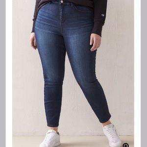 Curvy Fit, Skinny Denim Jegging - Addition Elle